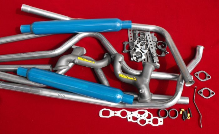 Complete Dual Exhaust System with William's Headers for 1949-54 Chevy's
